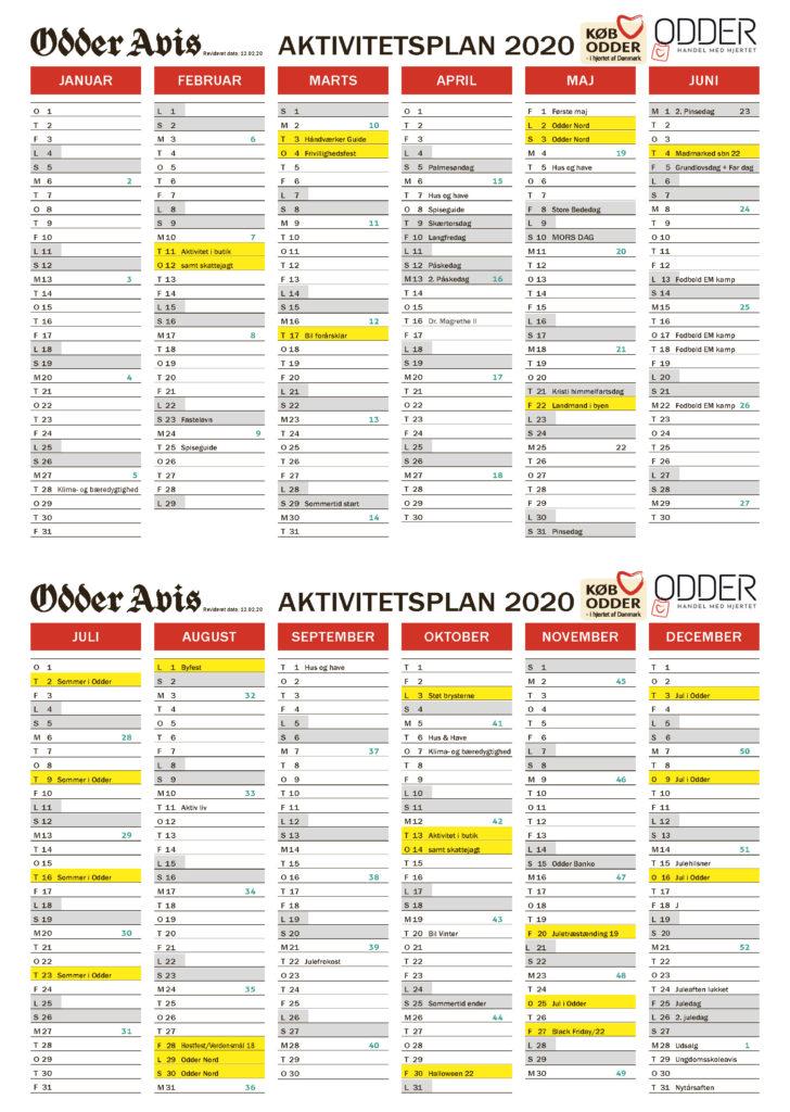 Køb Odder aktivitetskalender 2020